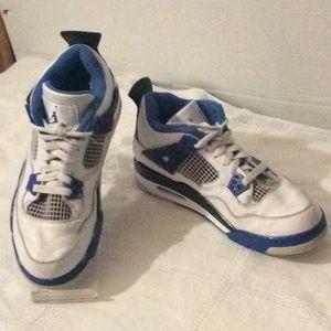 Jordan retro M sport white blue # 6.5Y big boys